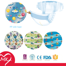 Customized roll printed PP frontal tape for baby adult diaper raw material