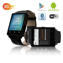 CE RoHS 1.63 Inch Big Touch Screen Watch Phone D6 Android 5.1 MTK 6580 Quad Core 3G GPS Wifi Smart Watch