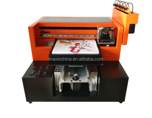 MAX-printer direct to garment printing machine 6 color A3 direct t shirt printer