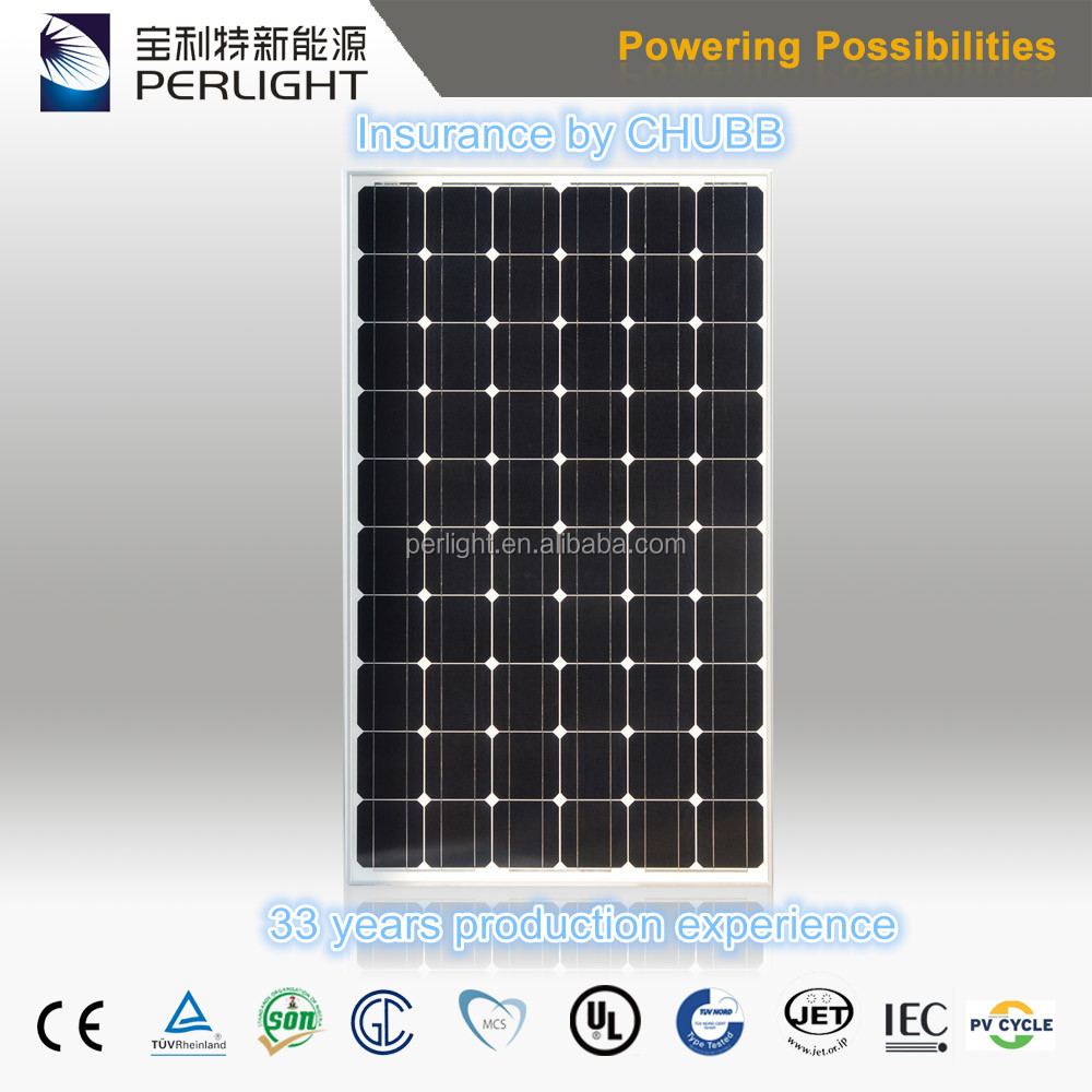 2017 High Efficiency Solar Cells Module 260w 270w 280w Monocrystalline Solar Panel Pv Module 270 watt