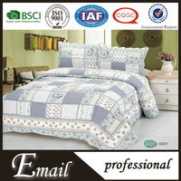 Korean style home textiles buying agents plaid patchwork puff bedding set/sets