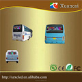 3G wireless controlling Semi-outdoor RGB color P6 high brightness led Bus Route / Bus scrolling LED advertising screen