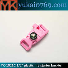 fire starter ferrocerium rod,ferrocerium flint rod,luminous flintstone buckle with whistle