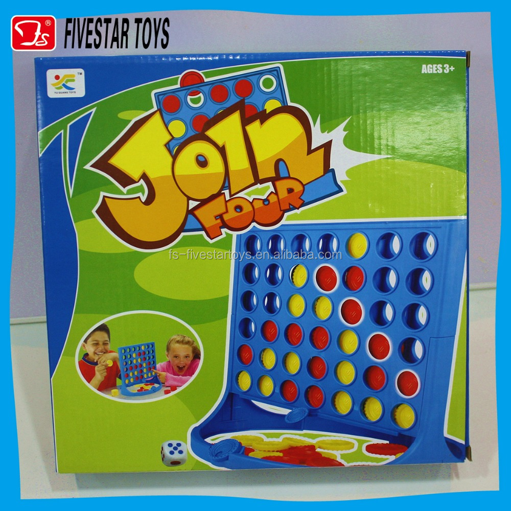 New Product educational 2016 Plastic Toys 4 in a row game Plastic Chess Game