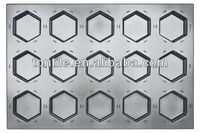 [Tontile]Baking Hexagonal Cake Mould-15 Indents(Silicone) SN9443