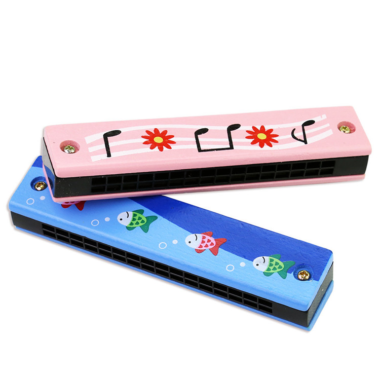 FQ brand early education cheap kids mini wooden musical instrument harmonica toy