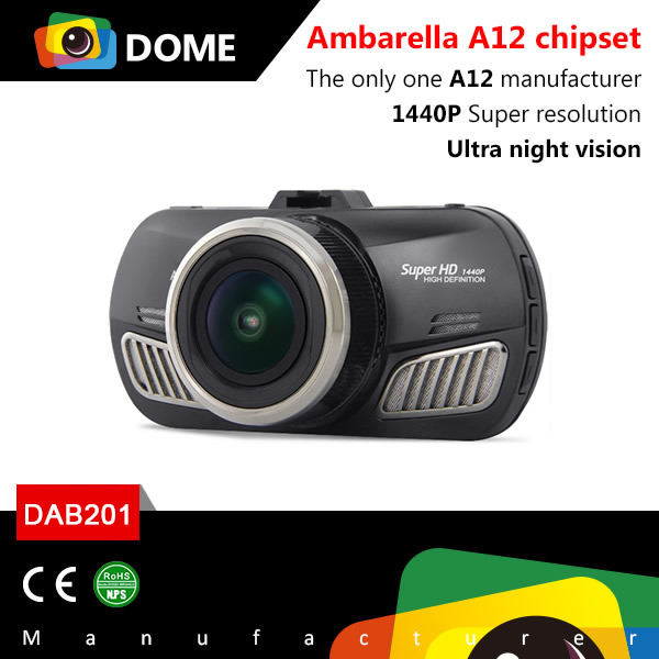 New arrival ambarella A12 chipset 1440P car dashboard camera
