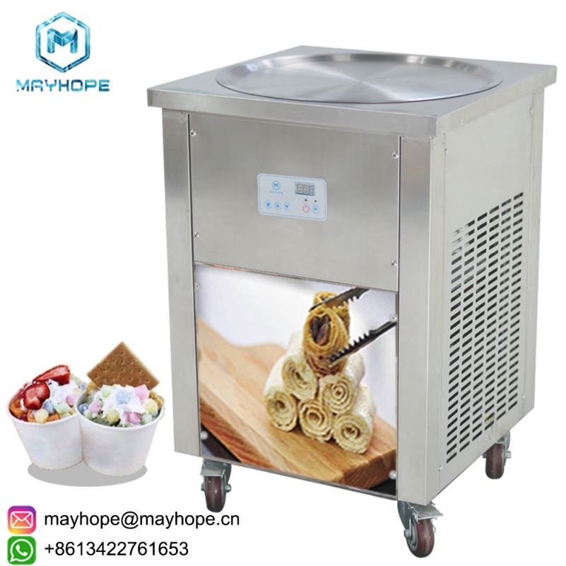 single pan fry ice cream machines, fried ice cream machines
