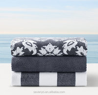 Luxury Jacquard 100% Cotton Beach Towel Wholesale
