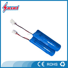 18650 rechargeable li-ion battery pack 3.7v 1800mAh with PCB and wire leads and JST-XH terminals for flashlight