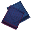 Chinese Cashmere and Wool Scarf Blue Color Light Weight Scarf for Men