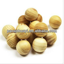Stock 2.4CM Diameter Pine Wooden Ball :Beads