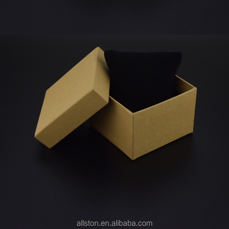 2016 black printing paper watch box,cardboard watch box,watch box packaging with hot stamping