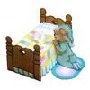 Tissue Wholesale Box Multicolor Pray Bear Bed Pattern Hand Made Cross-Stitch Kits Supplies