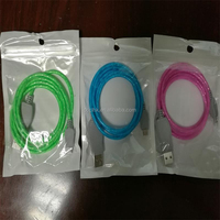 New Arrival Flowing Visible LED Light-Up USB Data Sync Charger Cable for iPhone/Android