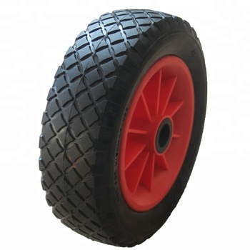 PU Rubber Solid Boat Launching Wheels 260x80mm