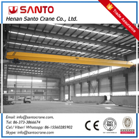 Construction Machinery 10 ton LD type electric hoist bridge overhead crane used in factory
