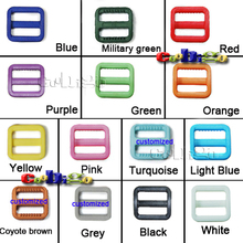 "3/4"" Plastic Slider Tri Glide Adjust Buckles For Dog Collar Harness Backpack Straps Webbing 20mm #FLC073(Mix-s)"