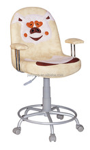 kids computer chair morden carton chair kids mini sofa children room studying chair with chromed circled leg C41