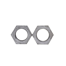 BSP grey cast iron pipe fitting hexagon female hot dipped galvanized cast iron nut cracker