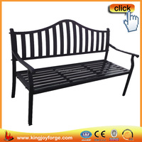 Simple easy outdoor leisure cast aluminum modern bench