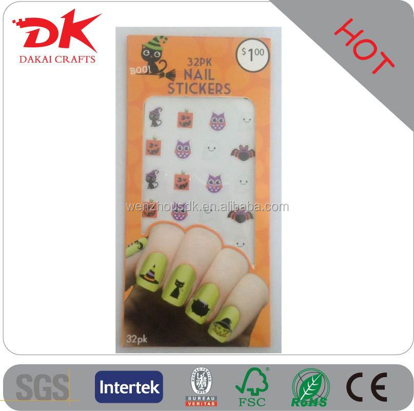 The newest design of halloween nail designs and halloween nail stickers