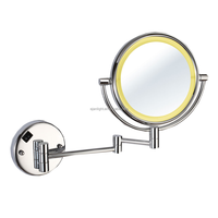 ETERNA Wall Mounted Lighted Makeup Mirror With Magnification