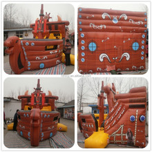 PVC inflatable pirate residential inflatable water slides