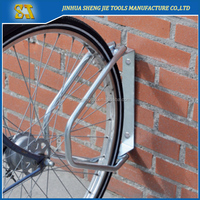 Adjustable single wall mounting bike rack
