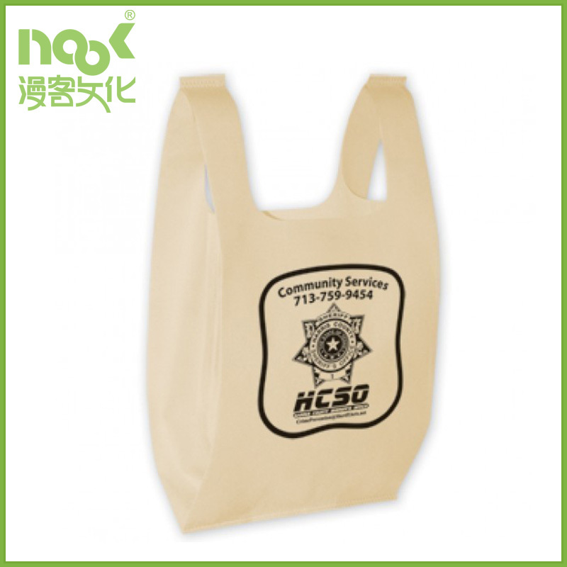 polyester bag custom shopping bag reusable washable cream