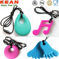 OEM Beads Necklace Chew Pendant/Non-Toxic Baby Teethers Silicon Jewellery