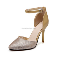 Shenn 2016 Latest Collection Ladies Fashion Shining Stiletto High Heel Dress Shoes