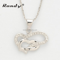 18K White Gold Plated Necklace with High Quality Natural Crystal Stones Pendant Necklace
