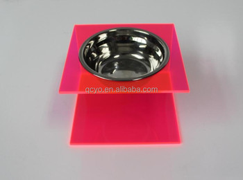 304 Stainless steel single bowl Acrylic Pet Feeder