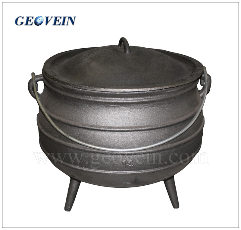 South Africa outdoor Cast Iron big cooking pot
