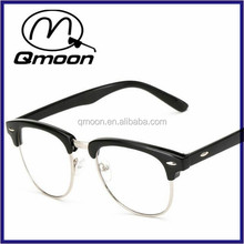 Qmoon half frame cheap price wholesale rimless reading glasses