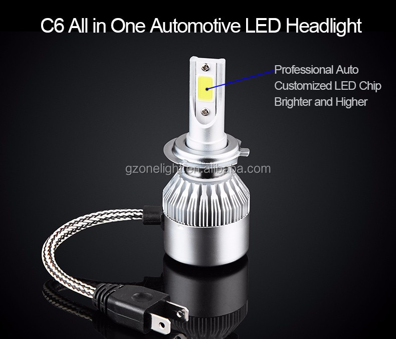C6 cob chip led headlight 36w h4 9004 9012 led headlight