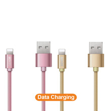 healthcabin-14306 Ultra Durable Nylon Braided Data Sync Charging Data USB Cable for IPhone 7 Plus 6 6s 5 Micro Usb Cable CC-IW01
