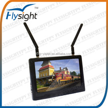 C131 Flysight 7'' 5.8GHz Diversity LCD Screen Receiver Monitor Black Pearl RC801 Support Fatshark Nextwave/Airwave
