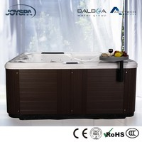 Promotion US Acrylic Sex Massage Hot Tubs Outdoor Used Square Spa with 7 Seats JY8015