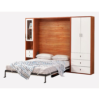high quality hidden wall bed with wardrobe