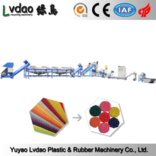 Wet film PP PE extruder plastic recycling machinery for pe film