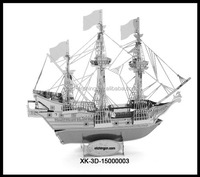 2015 Hot the factory price toy Metal Golden Ship Model,metal mechanical , Golden Ship Model