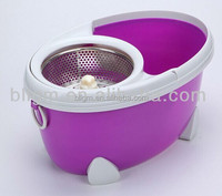 china online shopping spin & go pro spin mop / 2 mop heads & spin dry bucket(Yongkang factory)