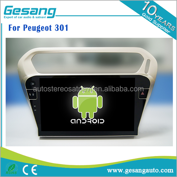 Android 6.0 car dvd player auto radio for Peugeot 301 with bluetooth phonebook