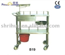 B19 stainless steel dressing trolley(cart)