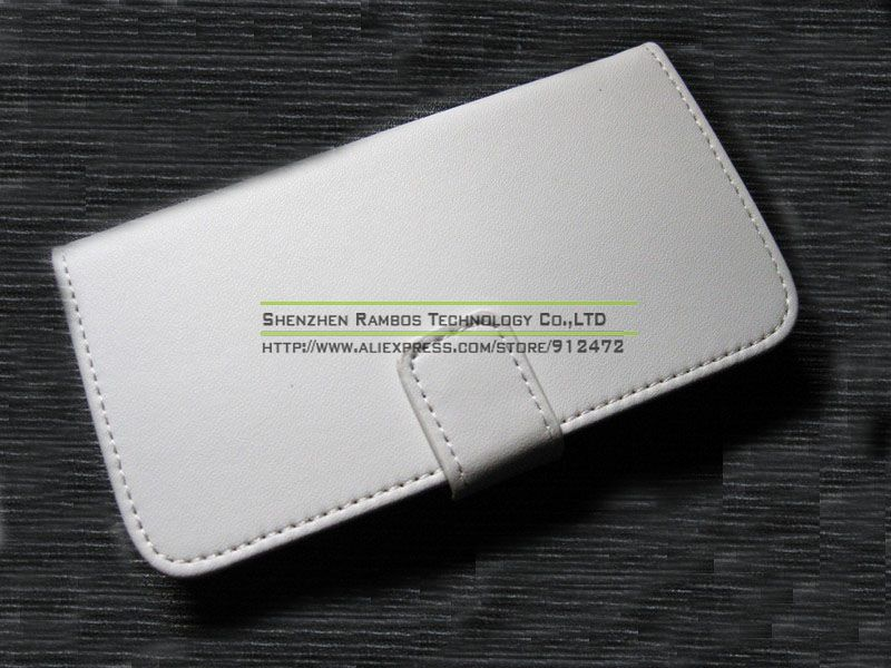 Genuine Leather Stand Flip Phone Cover Case with Card Holder for Samsung Galaxy S4 Mini i9190