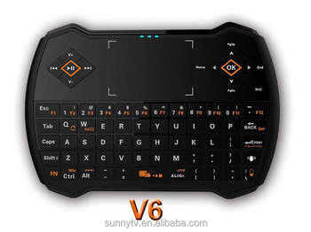 DHL V6 2.4G wireless English Keyboard I9 Updated i8 Gaming Air Mouse Multi-Media Remote Control Touchpad Handheld Keyboard