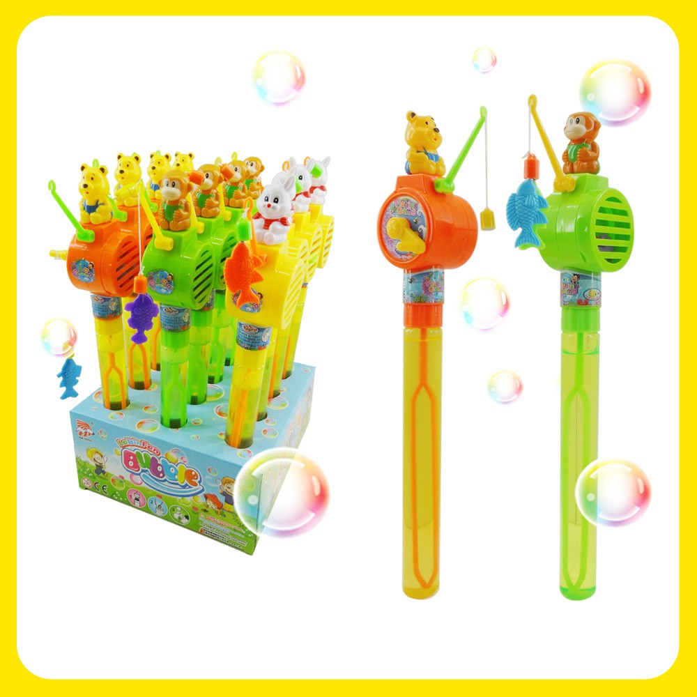 Bubble Stick Fishing Game Toys Soap Solution Wand
