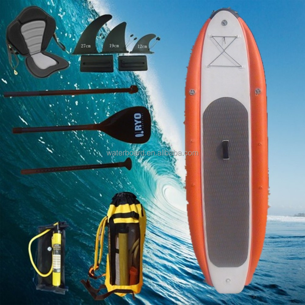 high quality fashion power inflatable surfboard with three chamber